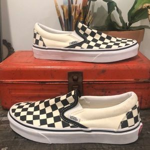 Vans original checkered slip on. No box